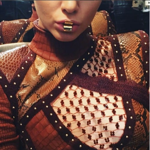 #MetalicLipstick for @Balmain